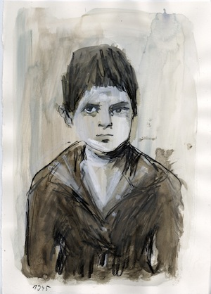 image - Barbara Yelin's illustration of Emmie Arbel, then