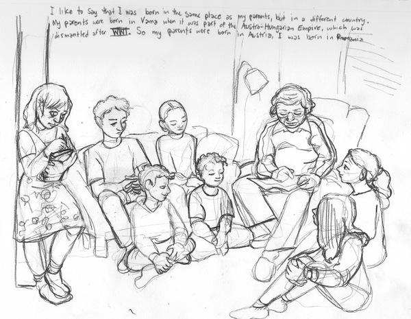 image - One of the illustrations by Miriam Libicki, who is working with survivor David Schaffer