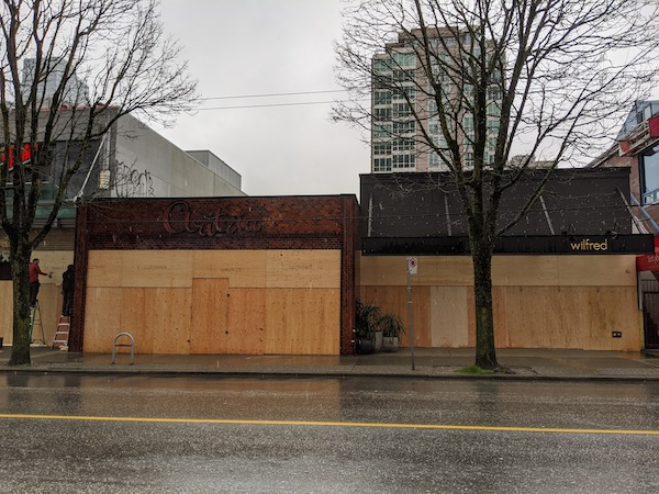 photo - Vancouver boarded up during the COVID-19 pandemic