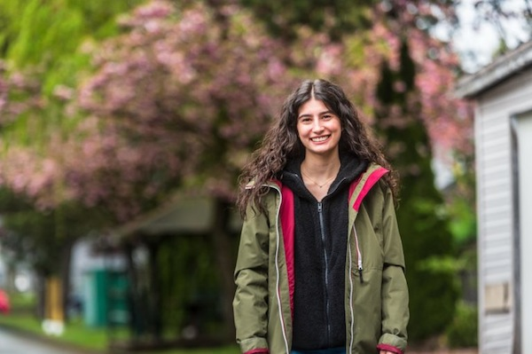 photo - University of British Columbia student Ava Katz has been helping people with errands since the pandemic began