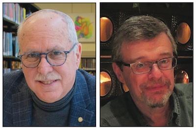 photo - The Canadian Jewish Record's Bernie Farber, left, and Ron Csillag