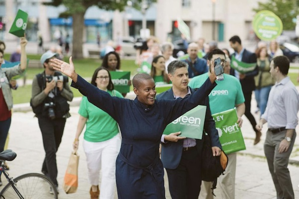 photo - Annamie Paul is running to succeed Elizabeth May as leader of the Green Party of Canada