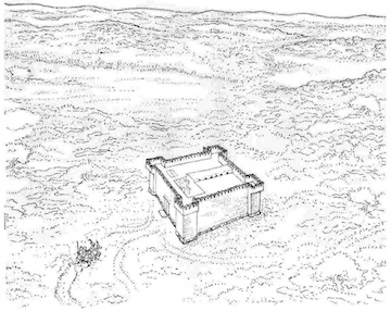 image - A drawing of what the fortress probably looked like