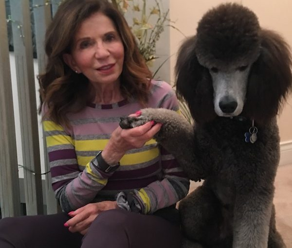 photo - The author with her dog, Kesem