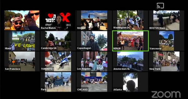 "image - The Vancouver group joined their peers around the world in a simultaneous Zoom-powered broadcast of the rally, dubbed ""Halev BeBalfour"" (""the Heart is in Balfour"")"