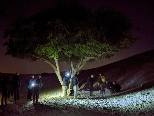photo - A rest break, at 3 a.m., hiking to catch sunrise over the Dead Sea