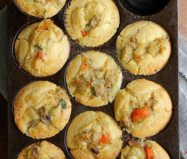 Making savoury muffins
