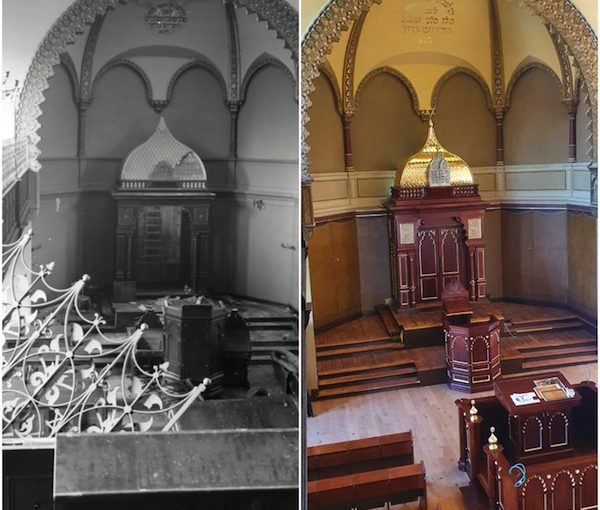 photo - Israel's Lavi furniture factory recreated Carlebach Synagogue's original ark from three prewar black-and-white photos