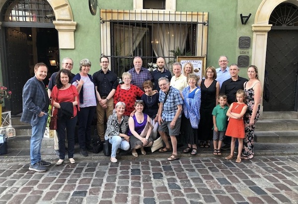 photo - George Heyman, ninth from the right, with family members in Poland last yea