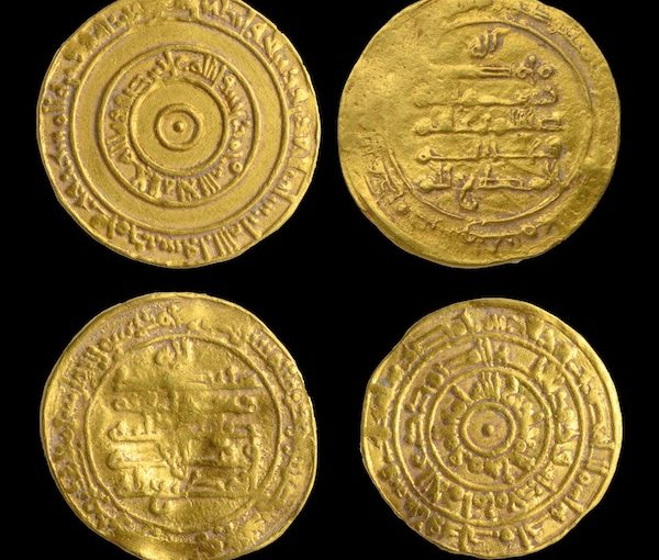 Golden coins found