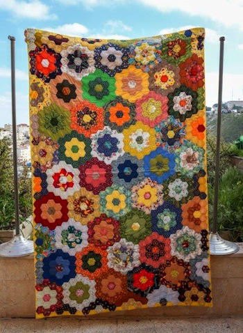 photo - A handcrafted quilt by Shlomit Etzion