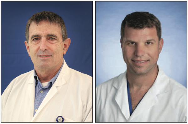 photo - Dr. Amir Onn, left, and Dr. Marcelo Cypel