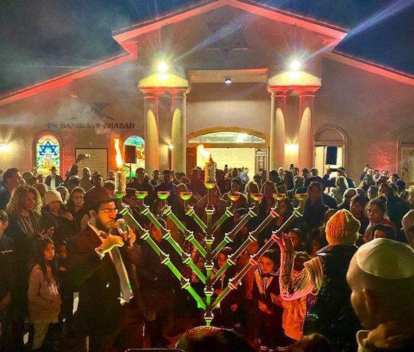 photo - Las Vegas's Or Bamidbar Chabad Sephardi synagogue at Chanukah
