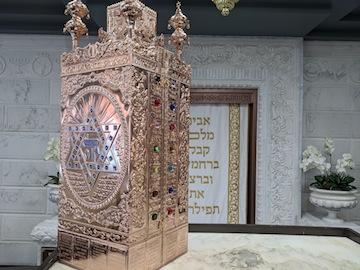 photo - A Sephardi Torah case at Or Bamidbar Chabad