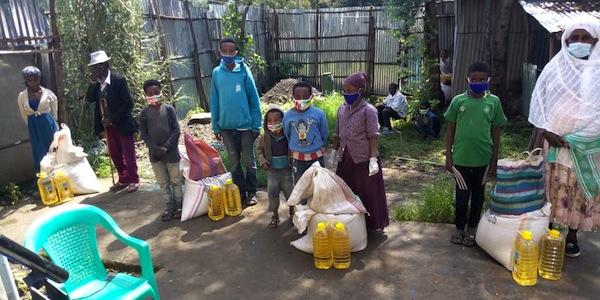 photo - Aid groups Meketa and Struggle to Save Ethiopian Jewry provide emergency food to Ethiopian Jewish communities waiting for aliyah