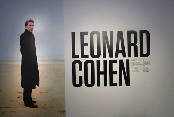 poster - The exhibition Leonard Cohen: A Crack in Everything was the most popular in the history of the Musée d'art contemporain de Montréal