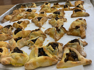 photo - More than 1,000 hamantashen were baked and more than 240 mishloach manot delivered