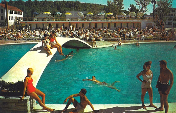 image - Pool scene at the Pines Resort in the heyday of the Catskills
