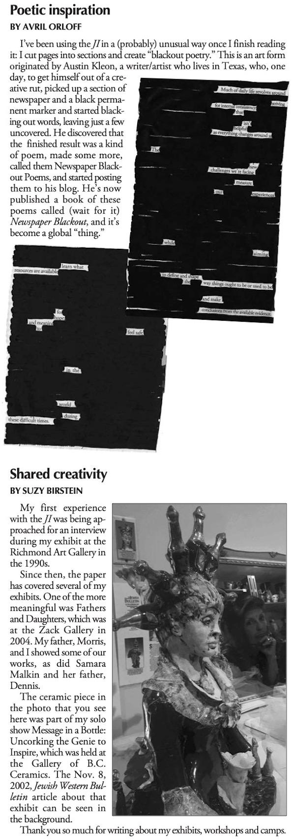 image - JI Reflections 90+1 - Avril Orloff ... Suzy Birstein