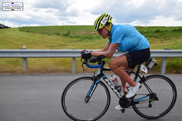 photo - Leah Goldstein during the Race Across America