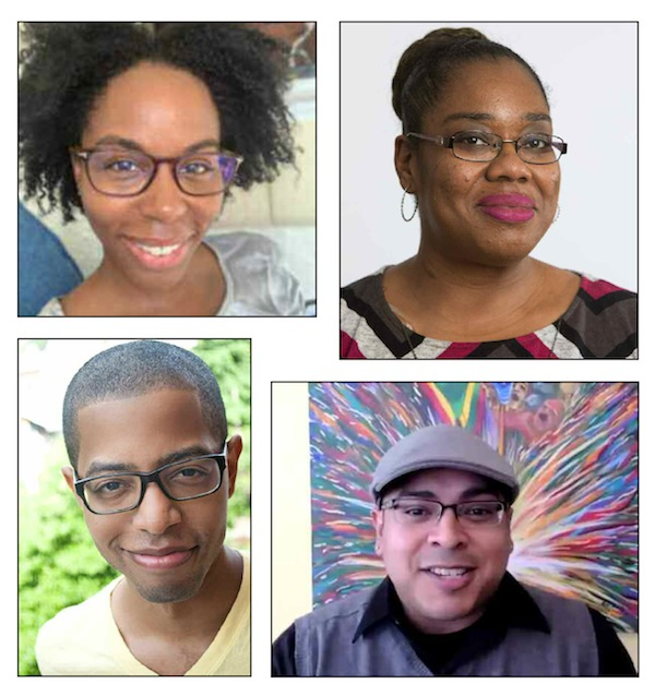 photos - Juneteenth webinar panelists (clockwise from top left) Heather Miller, Dr. Tameika Minor, Rafi Forbush and Kendell Pinkney