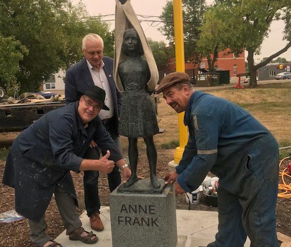 Edmonton's Anne Frank statue
