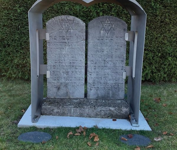 photo - In the Jewish Cemetery at Mountain View, a shroud was erected to protect the Kravitz family headstones