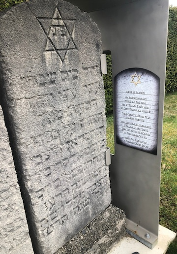 photo - A translation of the Kravitz family headstones has been added