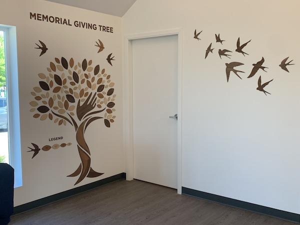 photo - Memorial Giving Tree at Schara Tzedeck Funeral Chapel in Surrey