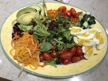 photo - Composed salads are colourful and tasty