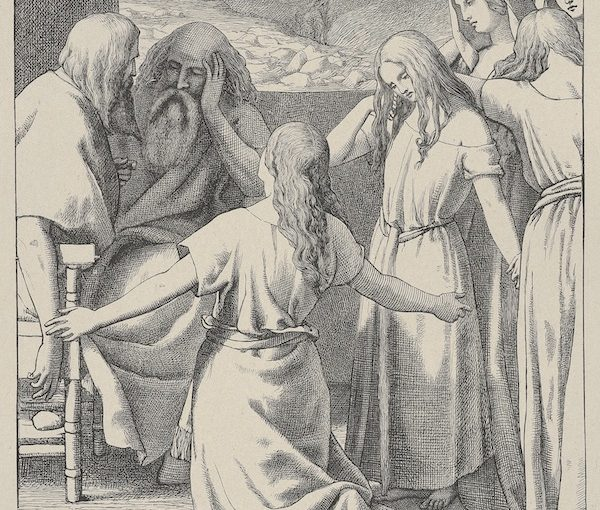 image - The Daughters of Zelophehad by artist Frederick Richard Pickersgill, engraver Dalziel Brothers, 1865-1881