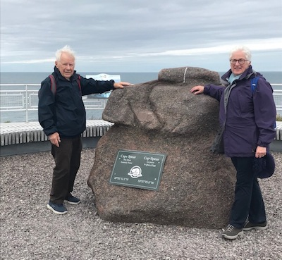 photo - The writer and her husband, Ted Ramsay, at Cape Spear, the eastern-most point of Canada