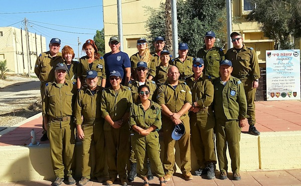 photo - Sar-El volunteers from Canada, the United States, England, Germany and the Caribbean at a base not far from Sderot in 2018