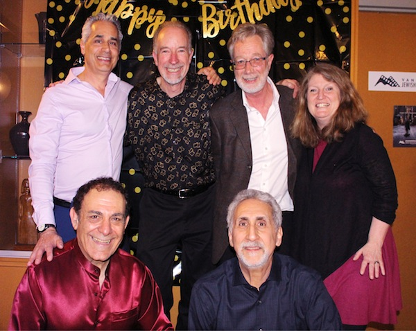 photo - The Tzimmes sextet, in 2019. Left to right are Saul Berson, Phil Belanger, Tim Stacey, Amy Stephen, Yona Bar-Sever and Moshe Denburg. Also part of the ensemble in the new recording, but not pictured here, is Fabiana Katz