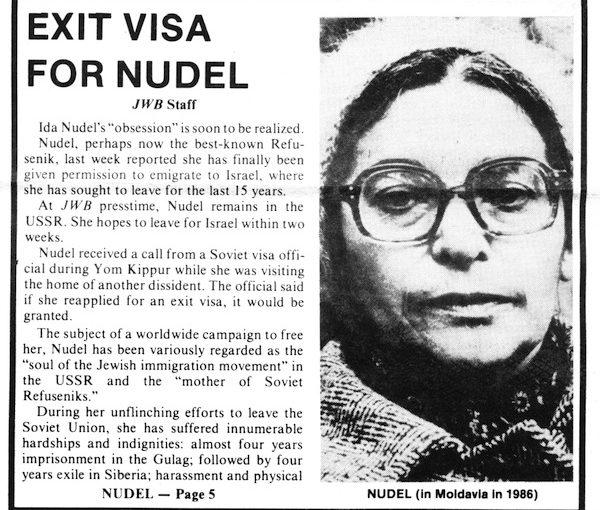 Ida Nudel passes away